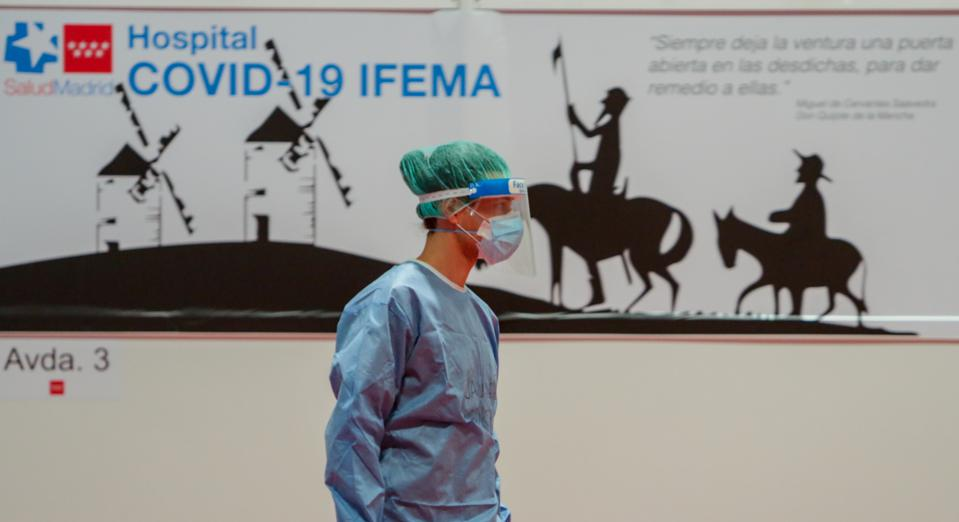 Reading Of Passages From 'Quixote' At The Ifema Campaign Hospital