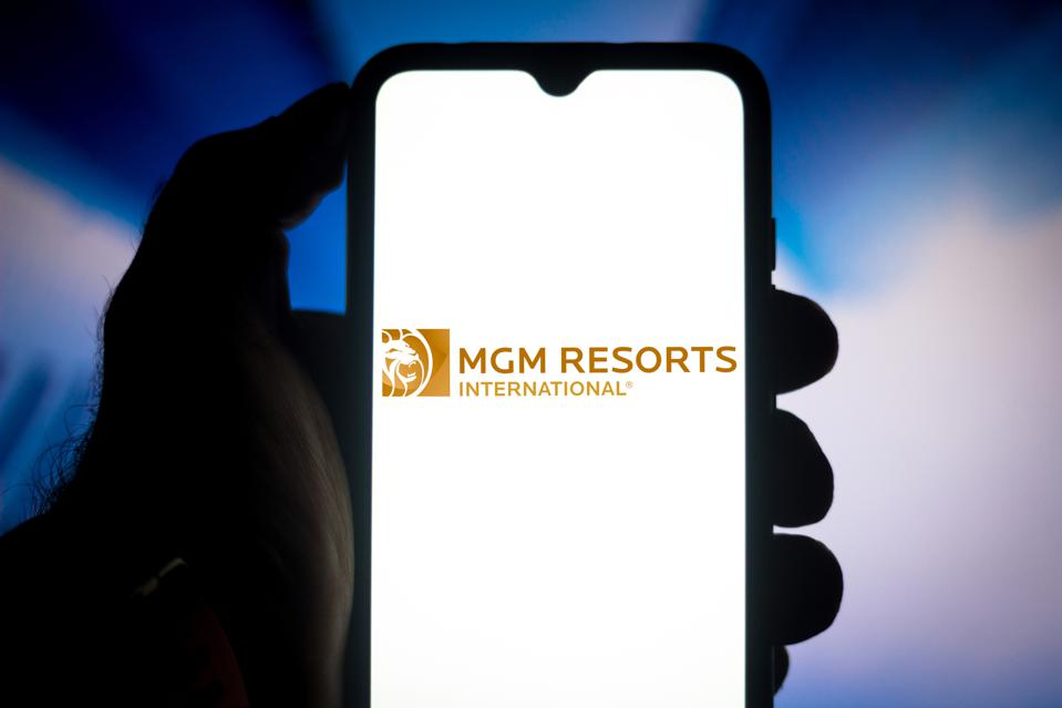 In this photo illustration the MGM Resorts International...