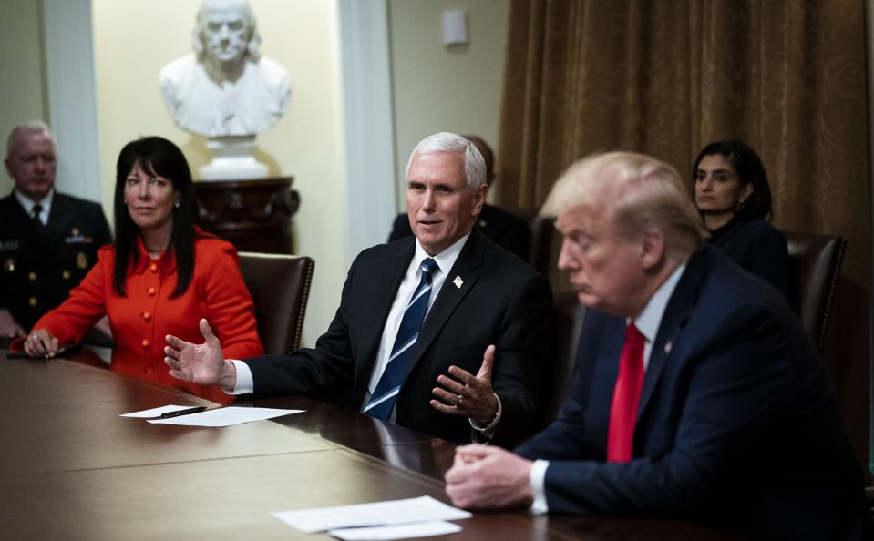 President Trump Meets With Industry Executives On COVID-19 Response