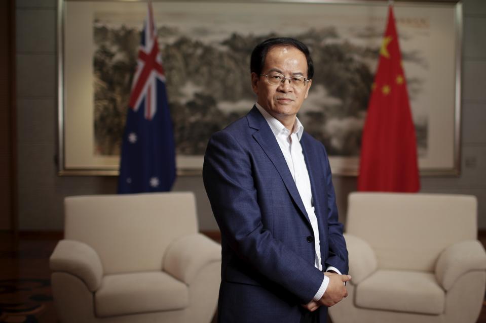 Chinese Ambassador to Australia Cheng Jingye Portrait Shoot