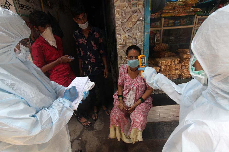 Mumbai India Continues Lockdown Due To Coronavirus Pandemic
