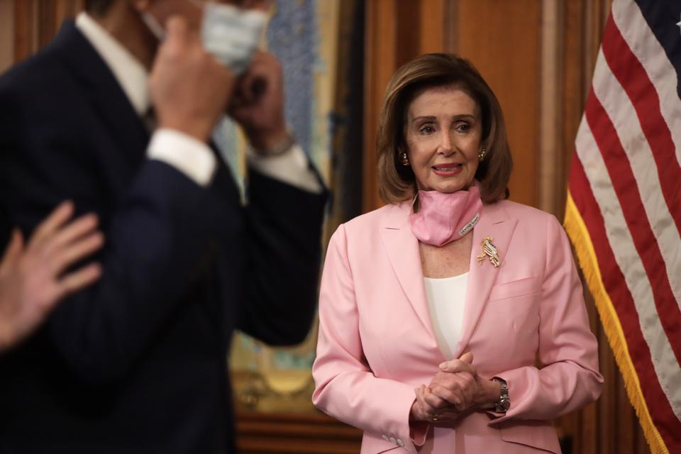 Speaker Pelosi Holds Ceremonial Swearing-In For Rep.-Elect Kweisi Mfume