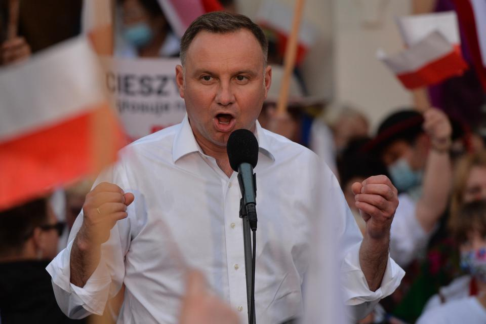 Andrzej Duda's Final Day Of The Presidential Election Campaign