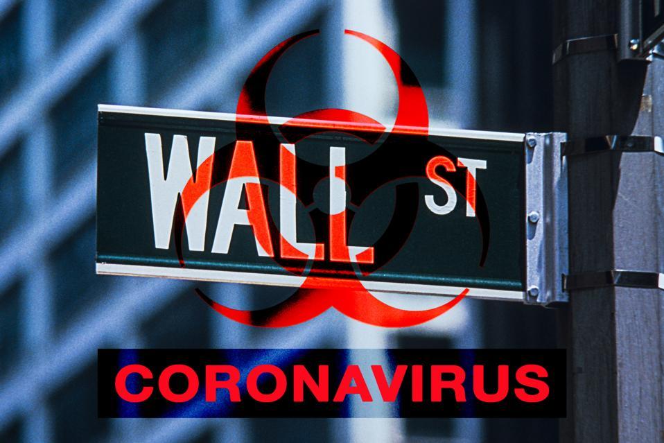 Coronavirus Pandemic Wall St, Manhattan.