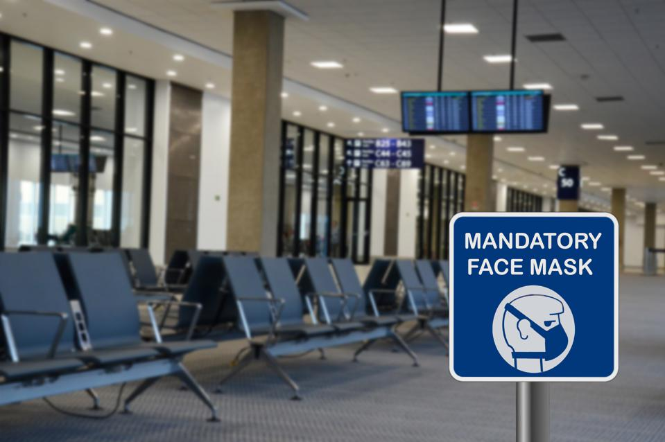 Concept for mandatory use of face mask in airport