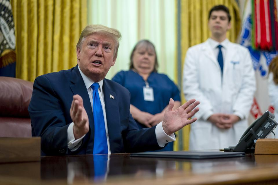 President Trump Holds Proclamation Signing In Honor Of National Nurses Day