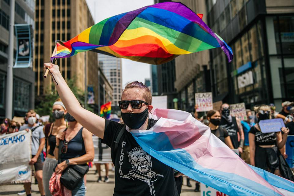 Black Lives Matter/Pride March Winds Through The Twin Cities