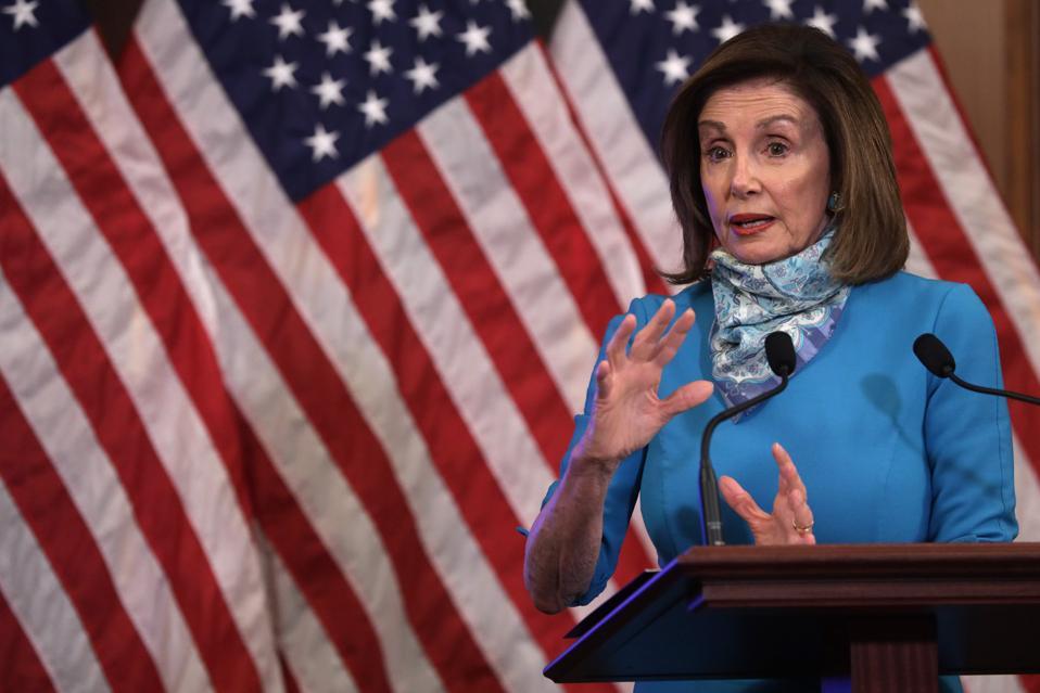 Speaker Pelosi Briefs Press In Weekly News Conferece