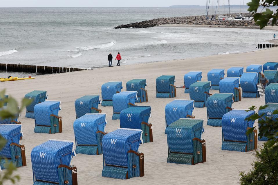 Empty beach chairs iIn Mecklenburg-Western Pomerania,