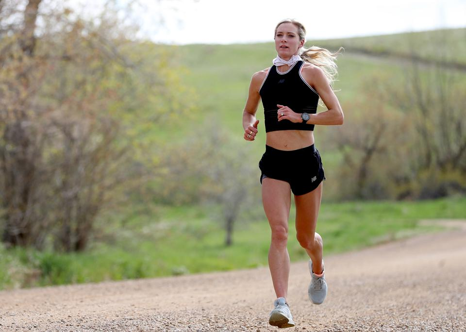 Olympian Emma Coburn Trains At Home During Coronavirus Pandemic