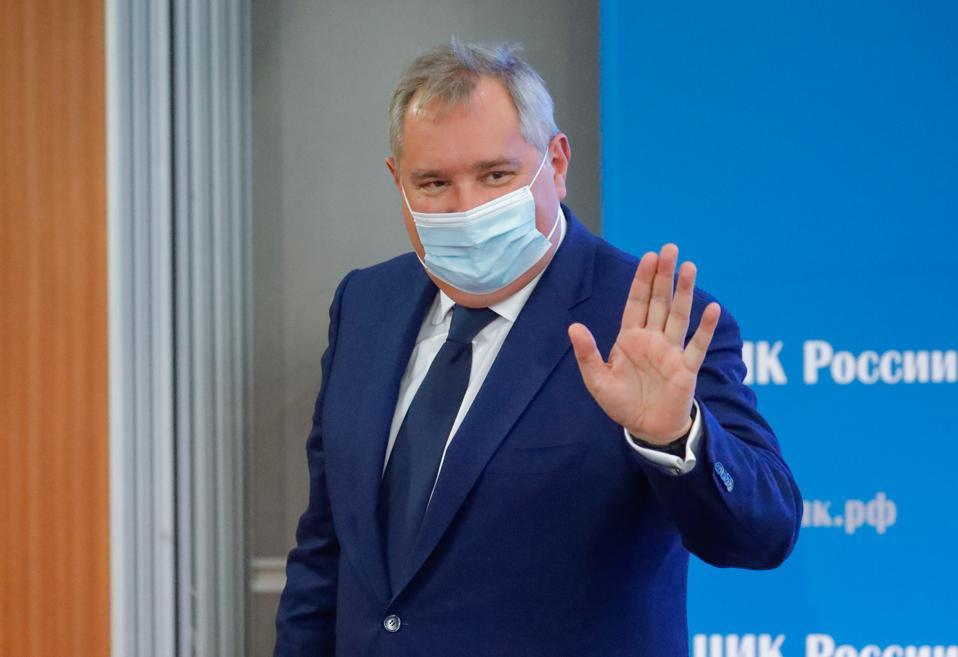 Dmitry Rogozin, head of Roscosmos, during a July 1 event.