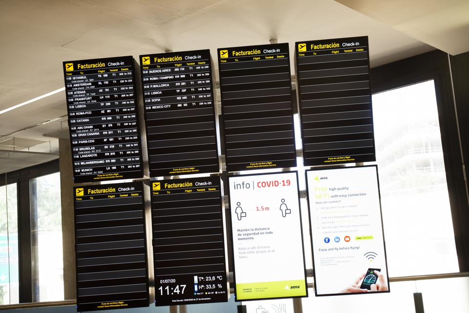 Spain airport flight as it Reopens Borders For Non-EU Countries and Europeans