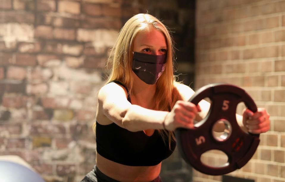 gym, fitness studio, coronavirus, disinfecting, reopening, social distancing, exercise