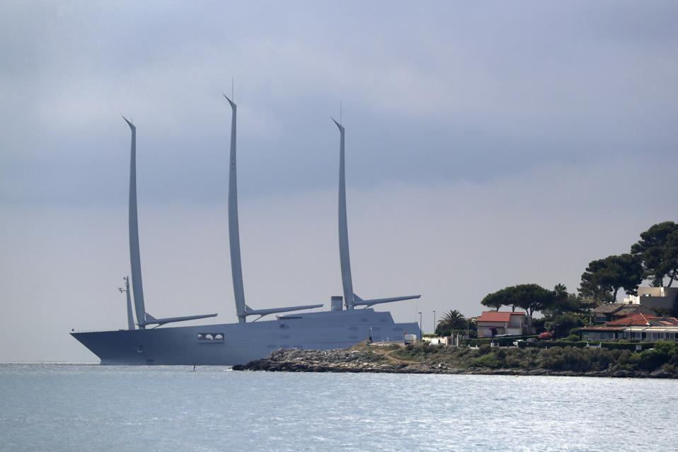 Andrey Melnichenko's 468-foot-long Sailing Yacht A July 3, 2020