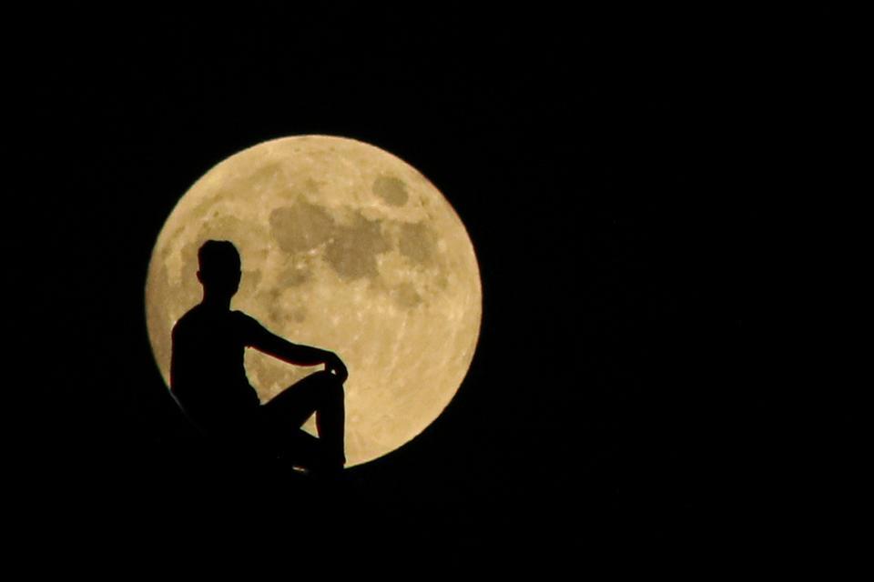 Full moon over Turkey's Malatya