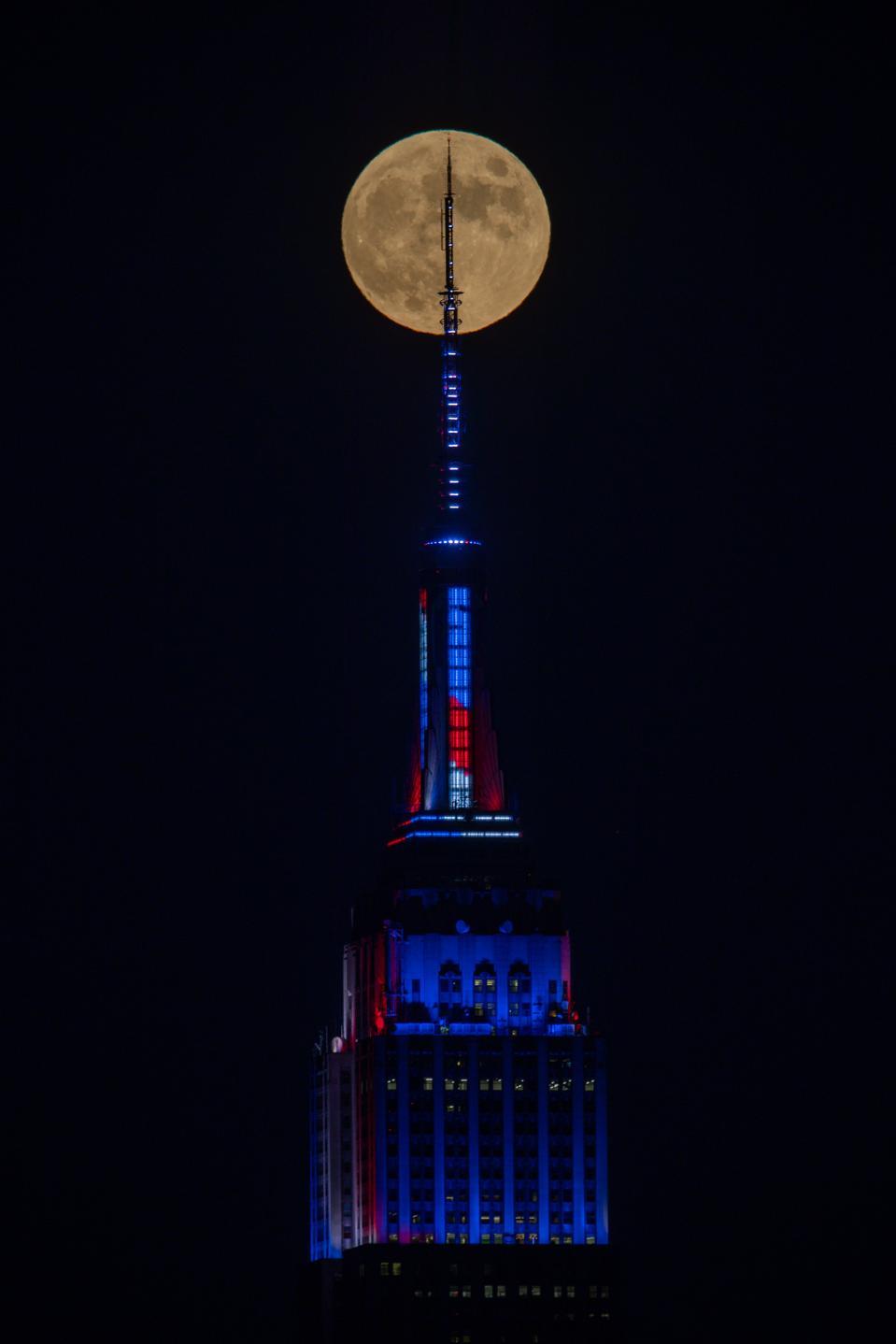 Full moon in New York City