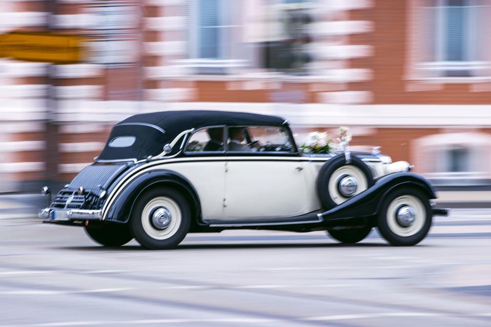 Oldtimer as wedding car
