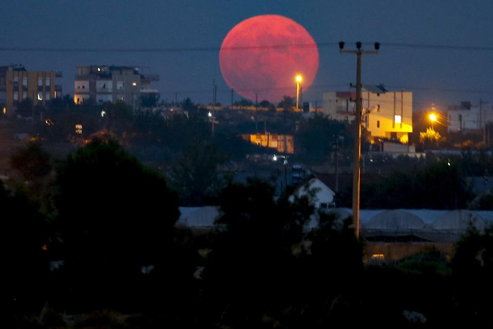 Full moon in Antalya, Turkey