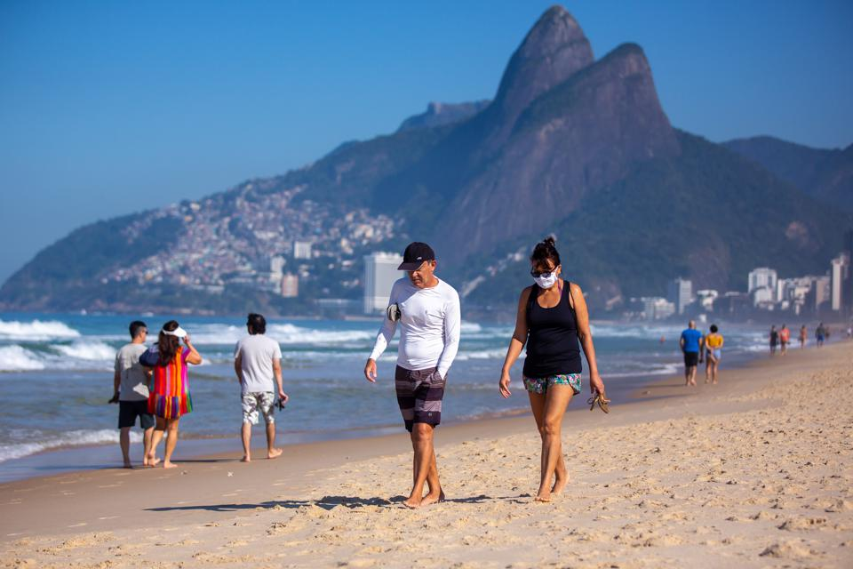 First Sunday in Rio as The Mayor Has Lifted Most Of The Restrictions Amidst the Coronavirus (COVID - 19) Pandemic