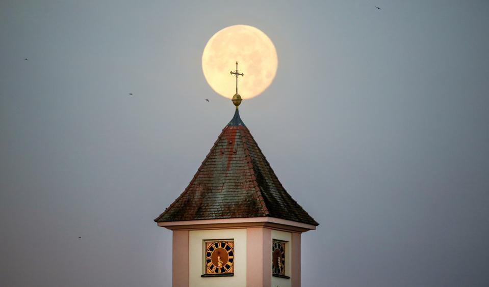 Moonrising over Baden, Germany