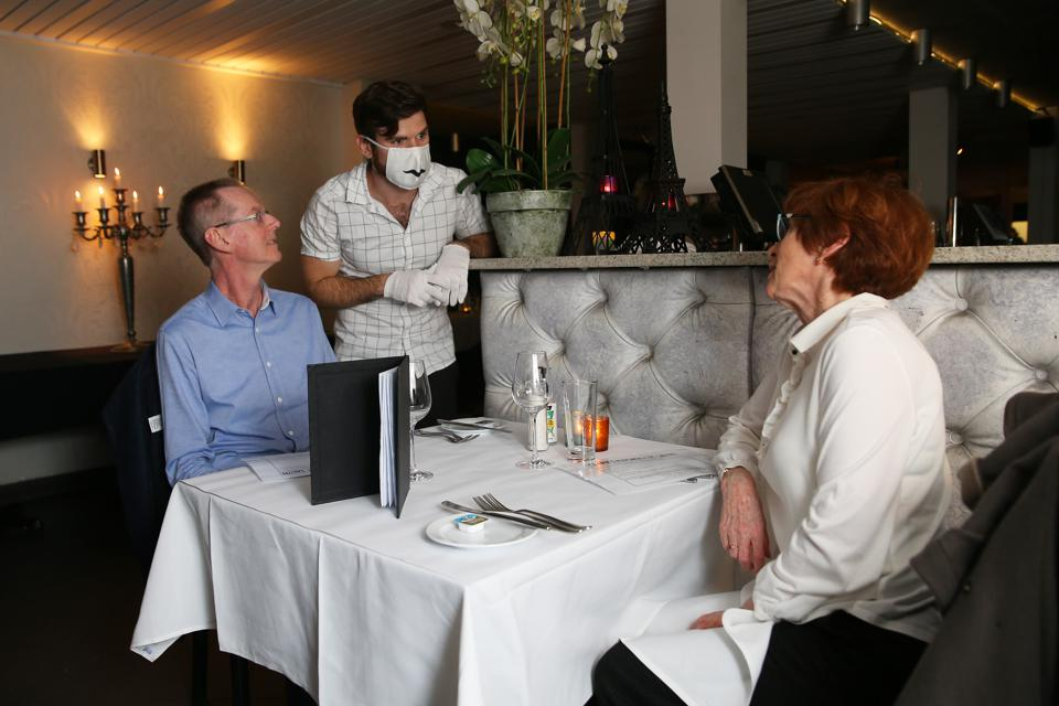Restaurants And Cafes Reopen For Diners As Coronavirus Restrictions Ease In New South Wales
