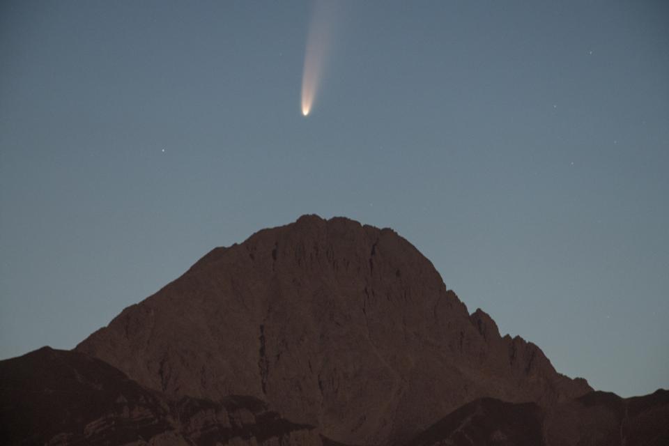 Comet Above Gran Sasso D'Italia