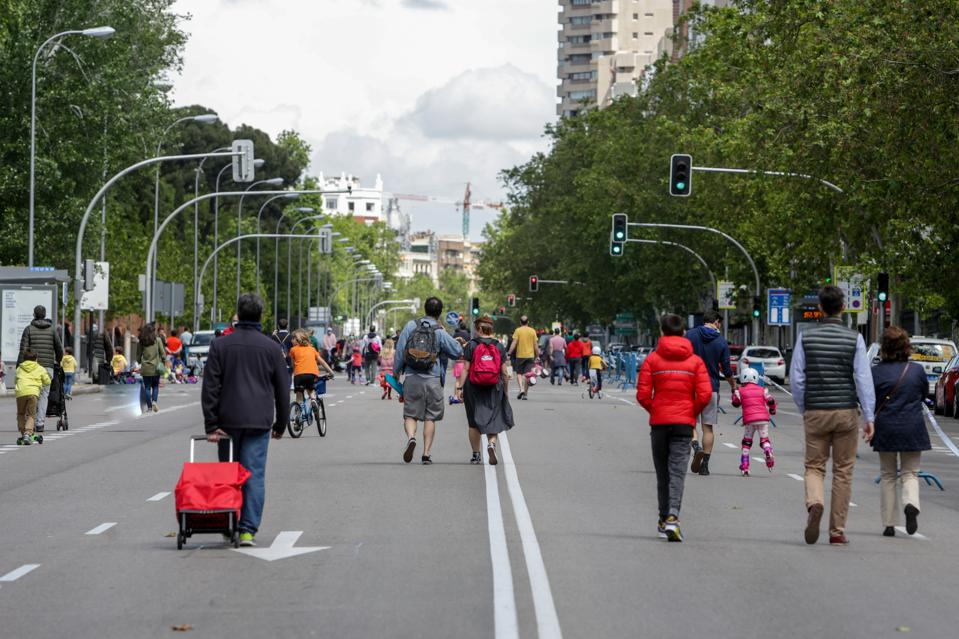 Up To 36 Streets In Madrid Are Pedestrianised