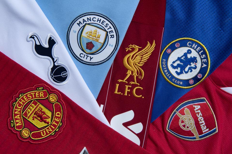 The Top Six Club Badges on Football Shirts