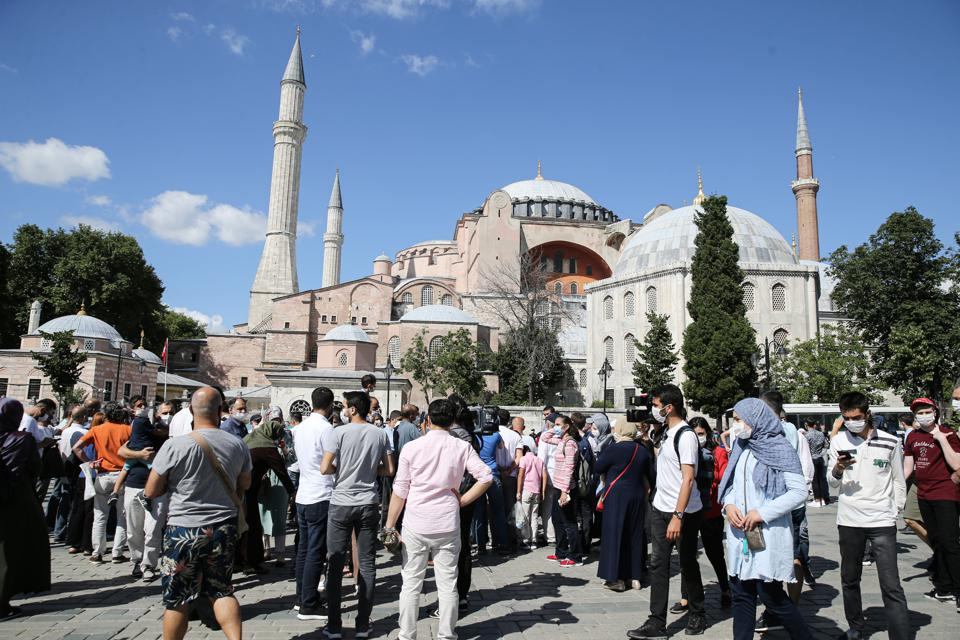 Turkish President Recep Tayyip Erdoğan on Friday signed a formal decree to restore mosque status to the Hagia Sophia museum in Istanbul, a move that