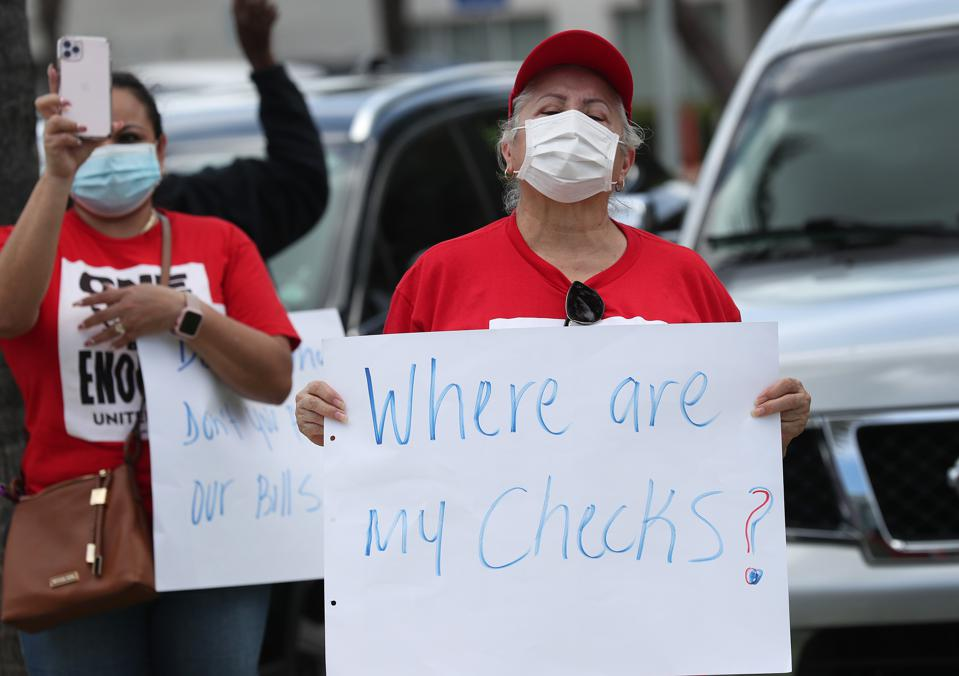 Unemployed Hospitality And Service Workers Lead Caravan Die-In In Florida