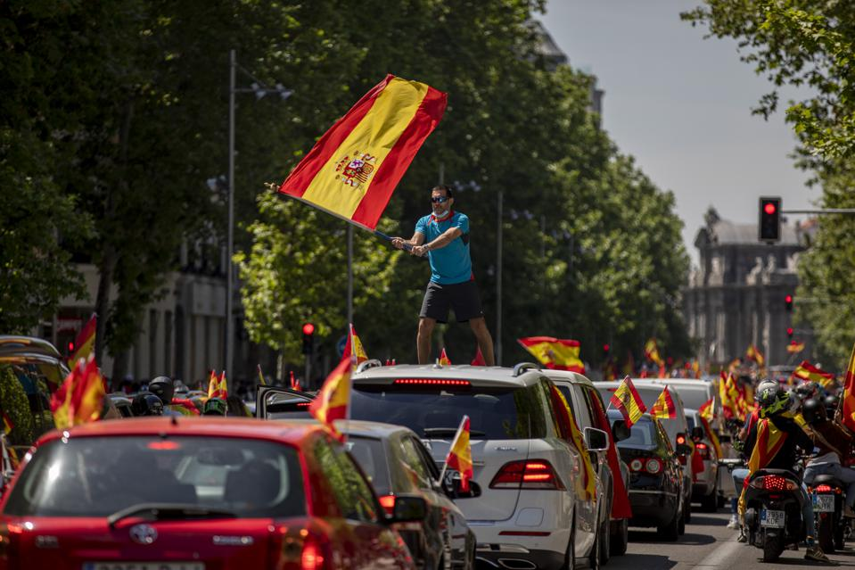 Far Right Vox Supporters Demonstrate In Spain