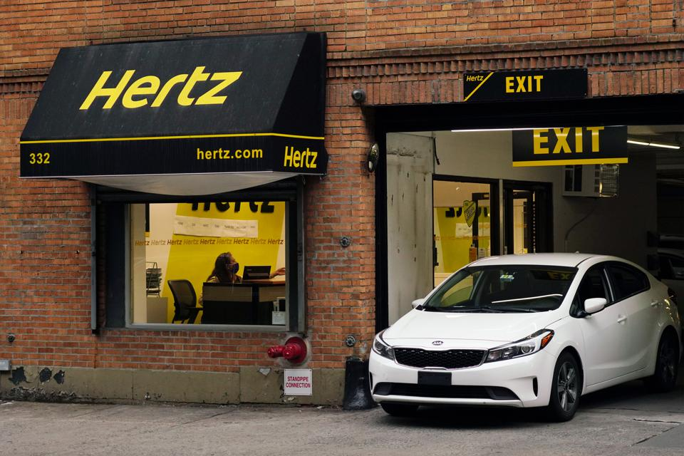 COVID-19 brought travel to a halt, forcing Hertz into bankruptcy.