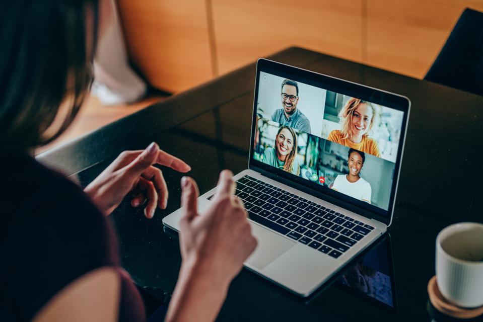 Friends in video call