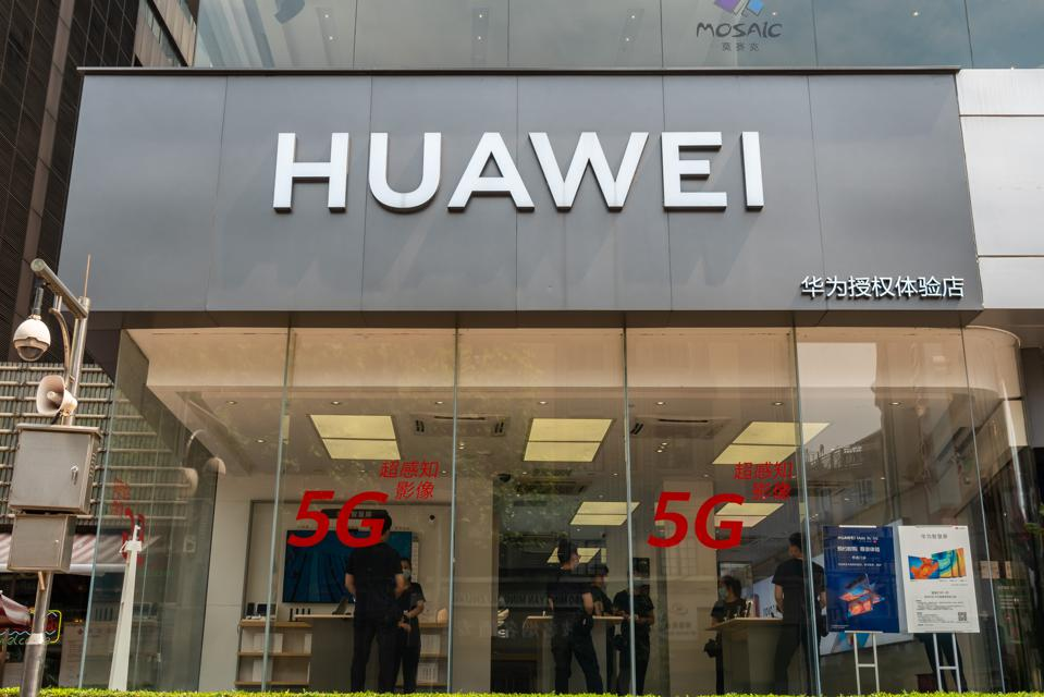 A Huawei store in Shanghai, China.