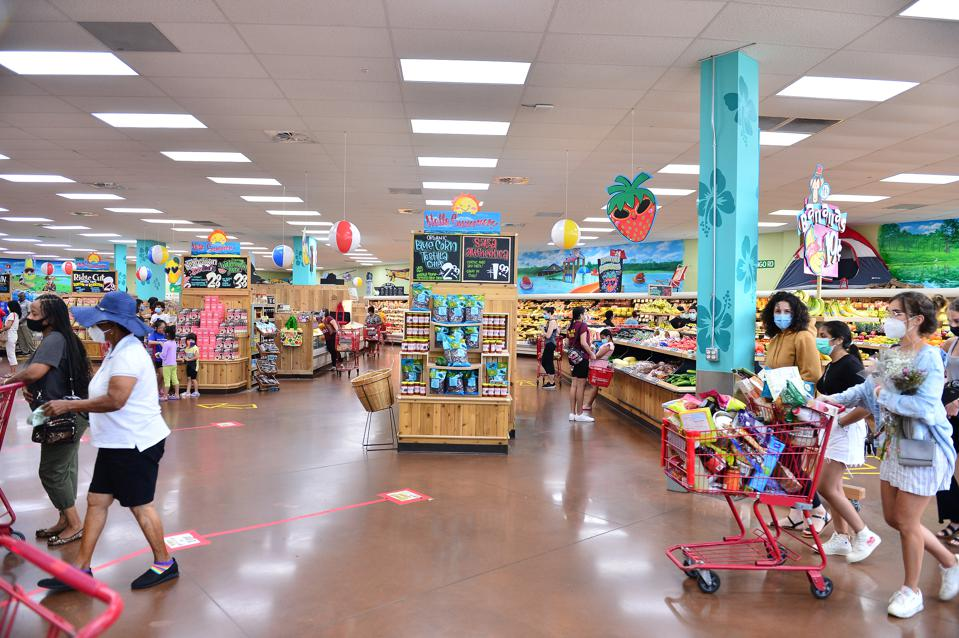 Customers at a Trader Joe's store in Pembroke Pines, Florida on July 16.