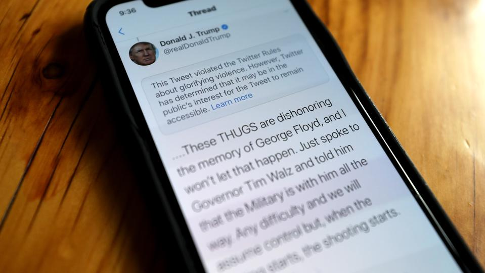 Twitter Flags Two Of President's Trump Tweets