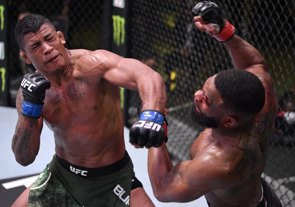 Gilbert Burns Vs. Tyron Woodley Results: Former Champion Humbled ...