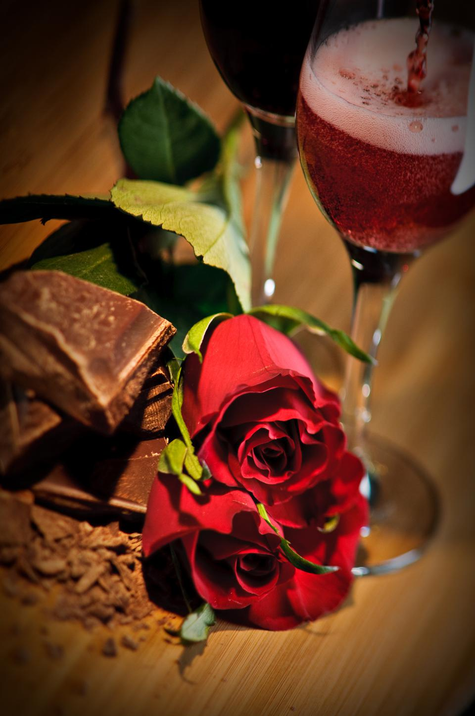 Chocolate, Roses And Dessert Wine