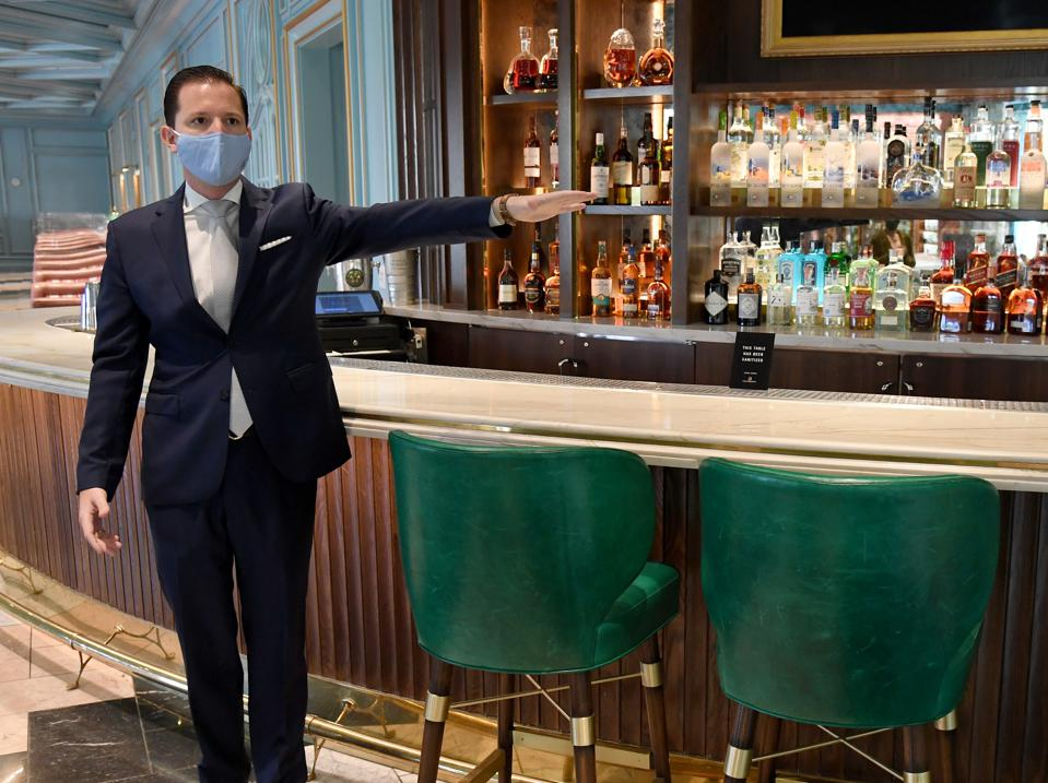 Bellagio Resort In Las Vegas Demonstrates Coronavirus Safety Protocols Ahead Of Reopening