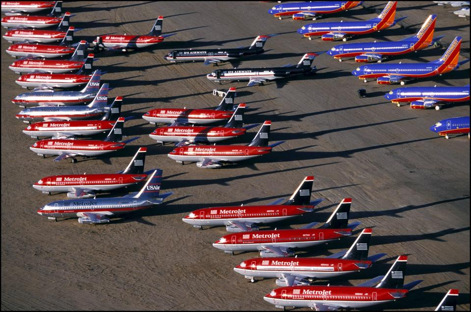 Aircraft Storage At Mojave Airport In California, United States In December, 2001.