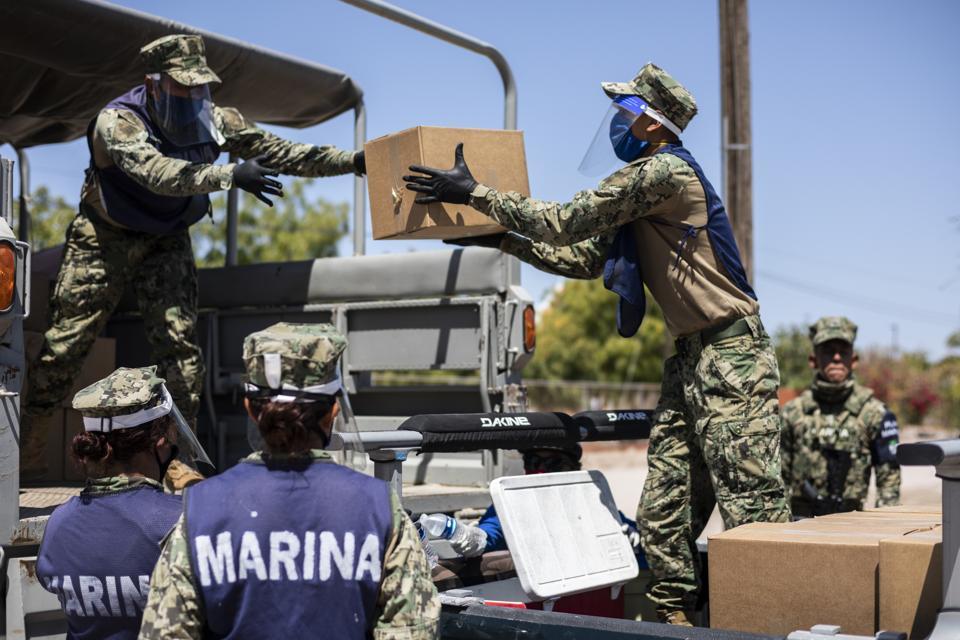Volunteers Deliver Humanitarian Aid In La Paz Mexico Amid Coronavirus Pandemic