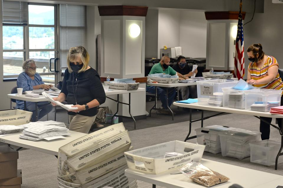 Berks County Workers Count Mail-in Ballots
