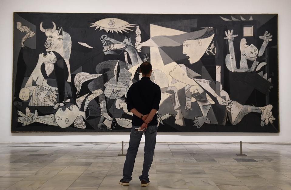 Picasso's famous painting Guernica at Reina Sofia Museum in Madrid