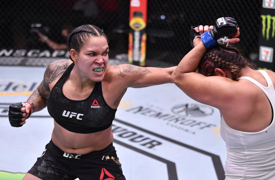 Amanda Nunes faced Felicia Spencer in the main event of last night's UFC 250 pay-per-view card