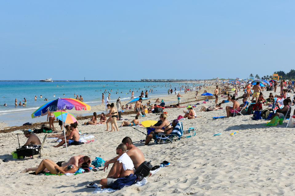 Miami-Dade Beaches Reopen After Being Closed For Coronavirus Pandemic