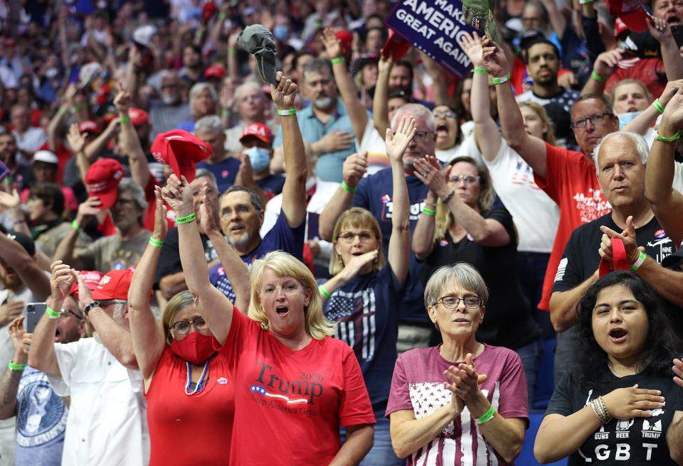 Donald Trump Holds Campaign Rally In Tulsa