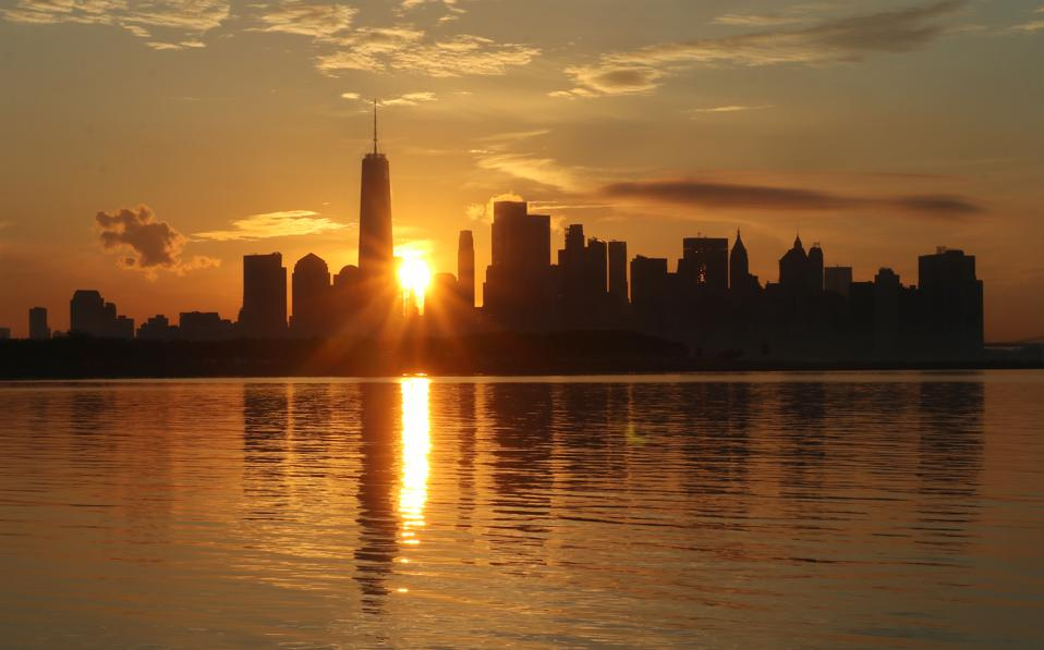 Sunrise on the First Full Day of Summer in New York City