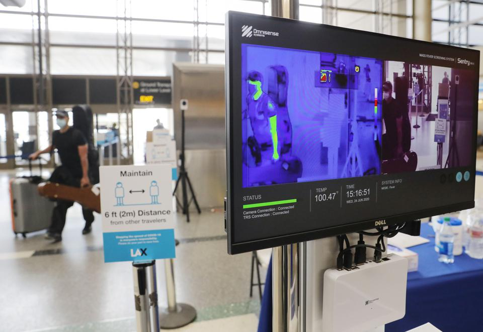 Los Angeles LAX Airport in the USA Thermal Screening Cameras To Detect COVID-19