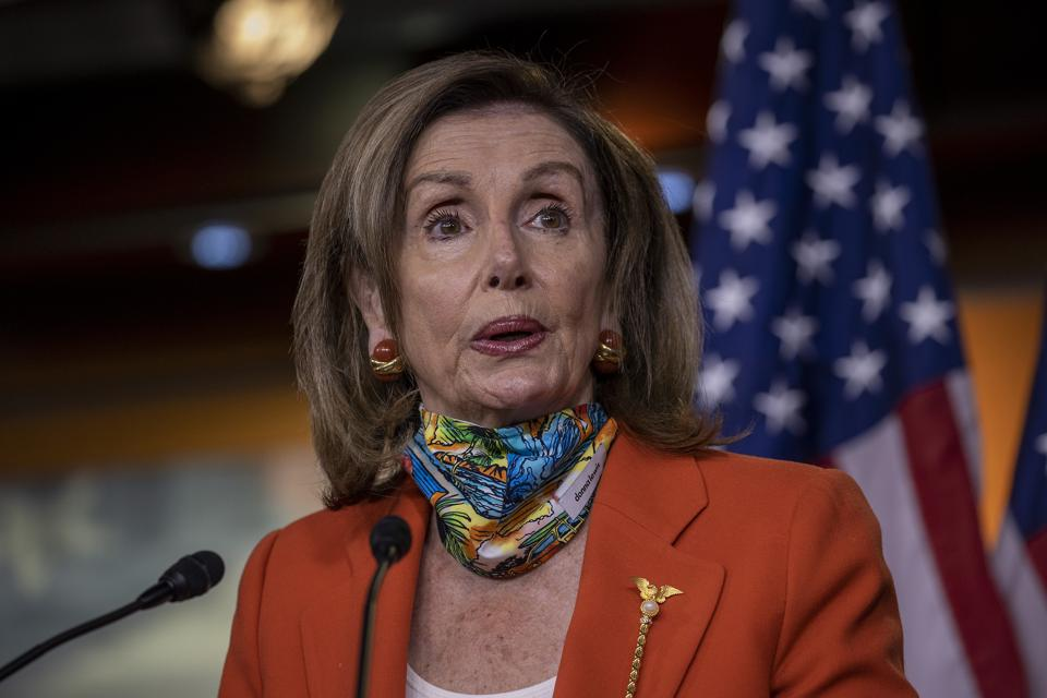 Nancy Pelosi Holds Weekly News Conference On Capitol Hill