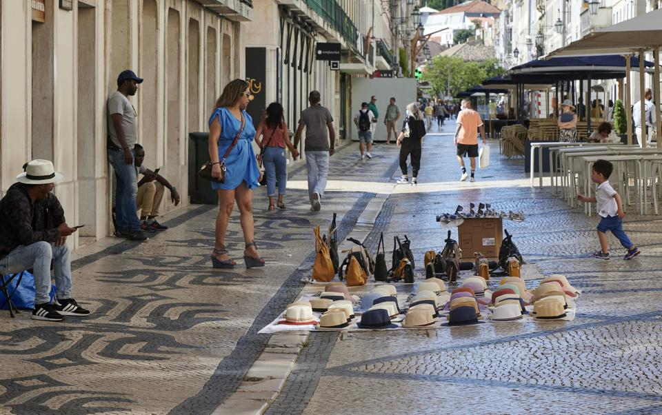 Lisbon street during I Coronavirus
